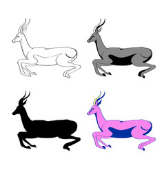 an image of an antelope in vector image vector image