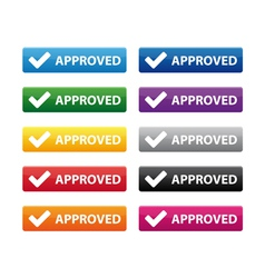 Approved buttons vector image vector image