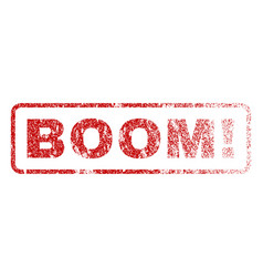 Boom exclamation rubber stamp vector