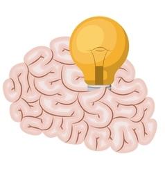 Brain storm isolated icon vector
