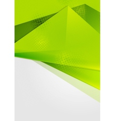 Bright green abstract flyer design vector image