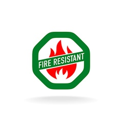 Fire resistant icon vector