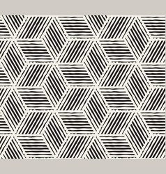 Hand drawn black and white ink striped seamless vector