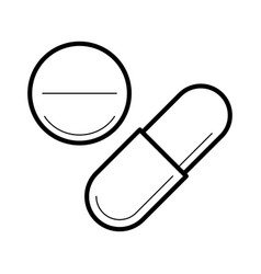 Icon with tablet and capsule vector