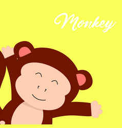 monkey t-shirt graphics cute cartoon characters vector image vector image