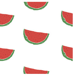 Pattern with watermelon vector