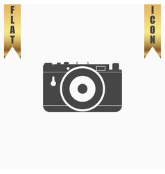 photo camera icon sign and button vector image vector image