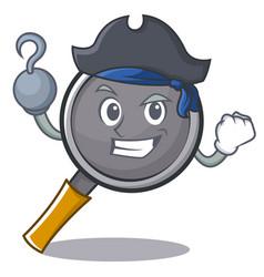 Pirate frying pan cartoon character vector