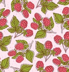 Raspberry pattern vector image vector image