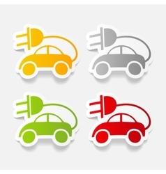 realistic design element eco car vector image vector image