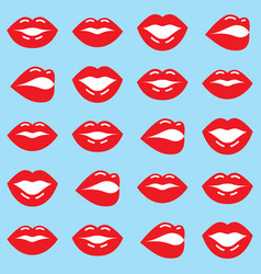 red lips seamless pattern valentines day design vector image