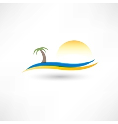 relaxing on the beach abstraction icon vector image vector image