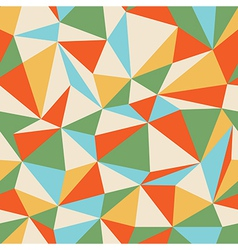 retro seamless triangles vector image vector image