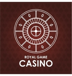 Roulette casino las vegas icon vector