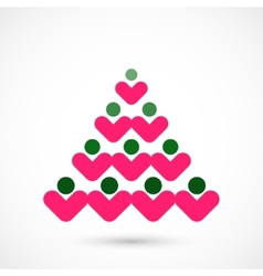 Social christmas tree vector