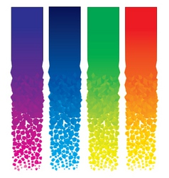 vertical banners set vector image vector image