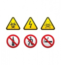 warning signs vector image vector image