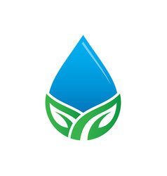 Waterdrop leaf nature logo image vector