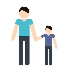 Father and son icon avatar family design vector