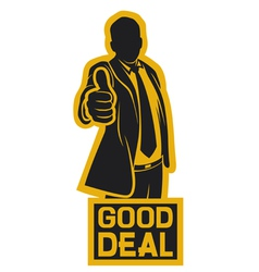 Businessman showing thumbs up vector