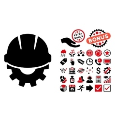 Development flat icon with bonus vector