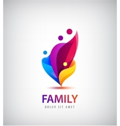 family with kids 4 people group logo vector image