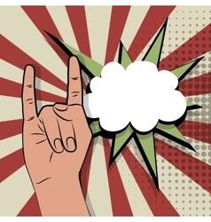 Pop art gestures brutal rock vector image