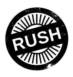 Rush stamp rubber grunge vector