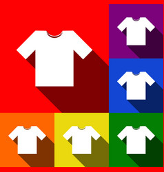 T-shirt sign   set of icons vector