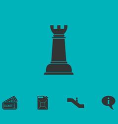 Chess icon flat vector
