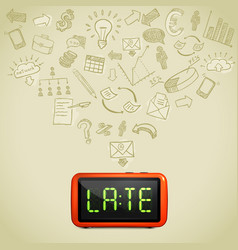 Business lateness concept vector