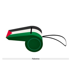 A black white and green whistle of palestine vector