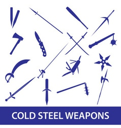 Cold steel weapons icons eps10 vector