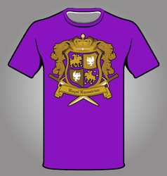 Royal emblem t-shirt vector