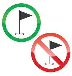Golf permission signs set vector