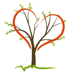 Love tree concept vector
