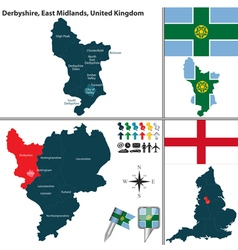 Derbyshire east midlands vector