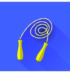 Yellow skipping rope vector