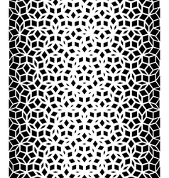 Seamless black and white pentagon pattern vector