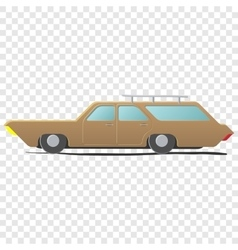 Station wagon - cartoon car vector