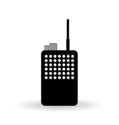 Police radio design vector