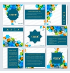 Modern templates for square brochure cover vector