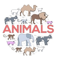 Zoo circle zoo animals zoo image zoo picture vector
