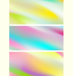 Abstract holographic soft gradient stripes vector