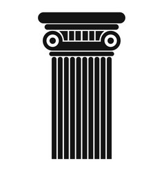 Architectural column icon simple style vector