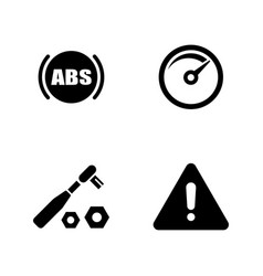 Auto service simple related icons vector