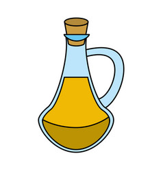 Bottle with cork icon image vector
