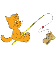 cat fisher vector image vector image
