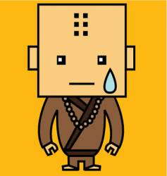 crying monk vector image vector image