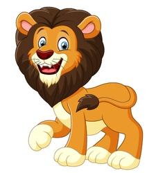 cute lion cartoon vector image